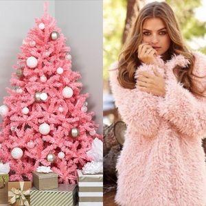 Jackets & Blazers - Dusty Pink Shaggy Faux Fur Coat